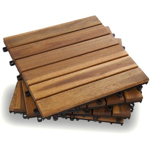 Six Slat Deck Tiles - Classic - Box of 10