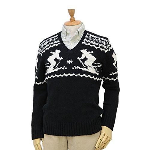 Amazon.co.jp: ポロ ラルフローレン ノルディック柄 セーター [並行輸入品] 0102197 (S, BLK/WHT): 服&ファッション小物通販