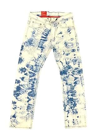 Jordan Craig Metro Blue Straight Fight Jeans (36x34) at Amazon Men's