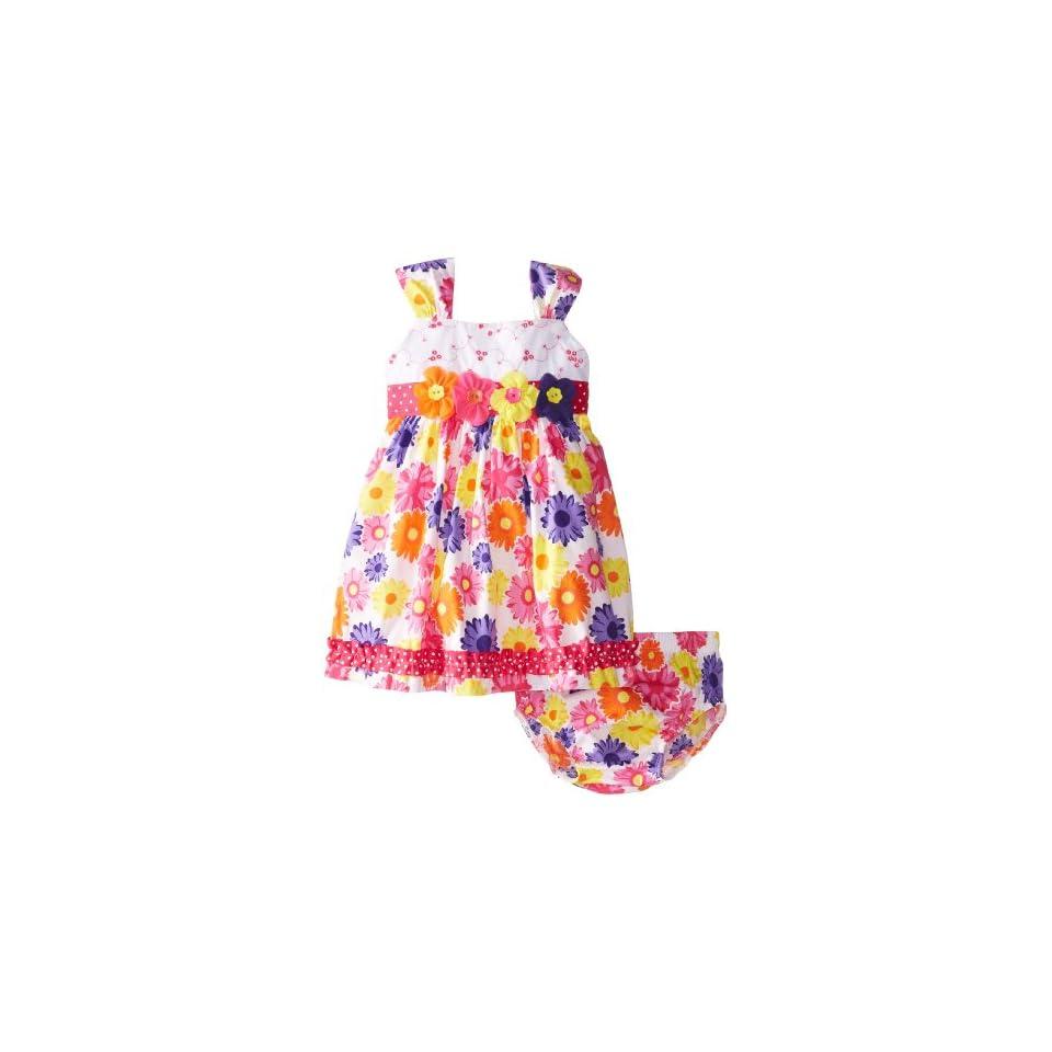Nannette Baby Girls 2 Piece Floral Print Dress Set