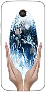 Snoogg Earth Globe Designer Protective Back Case Cover For Motorola G 2Nd Gen...