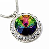 Vitrail Framed Crystal Pendant Necklace Made with Swarovski Elements