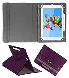 ACM ROTATING 360° LEATHER FLIP CASE FOR DIGIFLIP PRO ET701 TAB TABLET STAND COVER HOLDER PURPLE