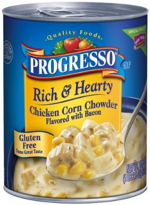 Progresso Rich & Hearty Chicken Corn Chowder Flavored with Bacon Soup 19 oz (Pack of 12) (Progresso Chicken Corn Chowder compare prices)