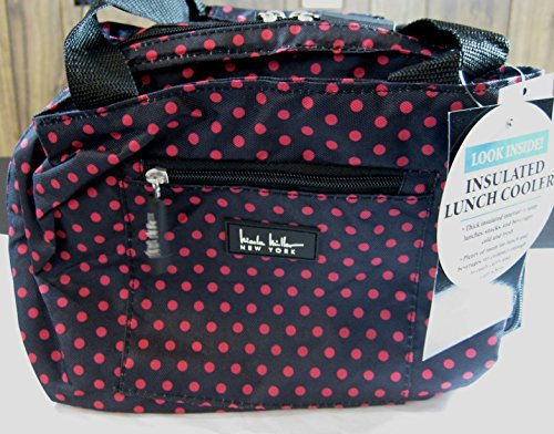 nicole-miller-of-new-york-insulated-lunch-cooler-black-pink-polka-dots-11-lunch-tote-by-nicole-mille