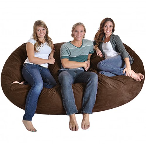 Remarkable Compare Slacker Sack 8 Foot Giant Foam Microsuede Beanbag Machost Co Dining Chair Design Ideas Machostcouk