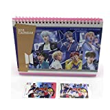 BTS Bangtan Boys 2018 Desk Calendar with Transparent photo card , Mini photo card and Stickers
