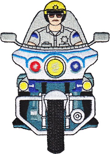 Application Rescue Motorcycle Cop Patch