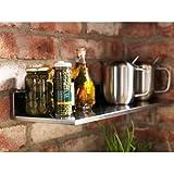 "Ikea Stainless Steel Wall Shelf 24x8"" Kitchen Spice Rack Storage Organizer Limhamn"