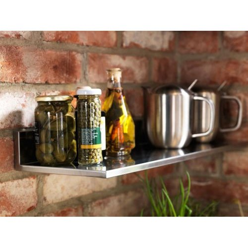 Ikea Stainless Steel Wall Shelf 24x8