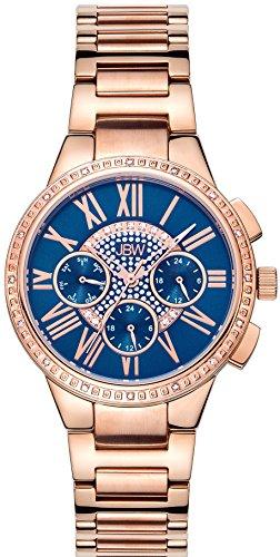 JBW Reloj con movimiento japonés Woman Helena Oro Rosa 38 mm