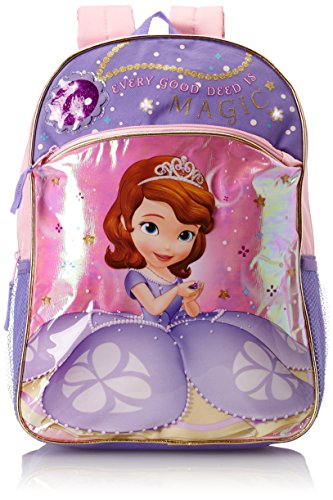 Disney Little Girls'  Princess Sofia Light Up Backpack