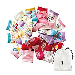 CZCCZC Baby Toddler Non-skid Anti Slip Skid foot Socks Baby Footsocks Sneakers (Style 10(12 Pairs))