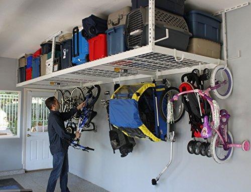 Garage Storage Organizer Racks Ceiling Overhead Drop Basement Heavy Duty Home Kit Accessories Hardware Steel Industrial Space Hooks Utility (Garage Organizer Ceiling compare prices)