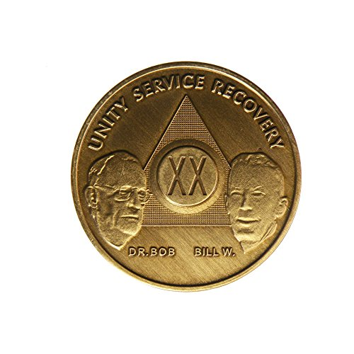 20 Year Bill & Bob Founders Edition Bronze AA (Alcoholics Anonymous) - Sober / Sobriety / Birthday - Anniversary Recovery Medallion / Coin / Chip by Generic