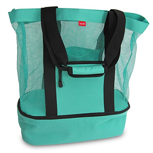 Aruba Mesh Beach Tote Bag with Insulated Picnic Cooler - Large (Pic Nic Towel compare prices)