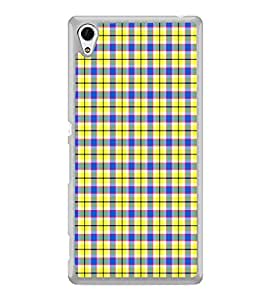 ifasho Colour Full yellow Squre Pattern Back Case Cover for Sony Xperia Z3 Plus