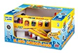 Grandi Giochi GG50401 Bump and Go - Avión de juguete, color amarillo