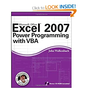 Excel 2007 Power Programming with VBA (Mr. Spreadsheet's Bookshelf) ebook downloads