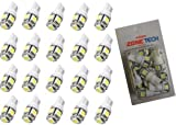 Zone Tech 20x 194 168 2825 5-smd WARM WHITE High Power LED Car Lights Bulb
