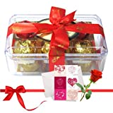 Valentine Chocholik's Luxury Chocolates - Colorful Treat Of Yummy Chocolates With Love Card And Rose