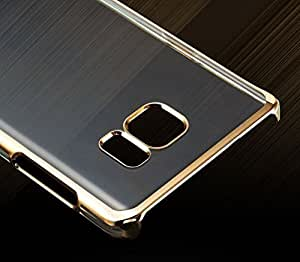 Vinnx Golden Border Soft Flexible Transaparent Ultra thin Back Cover for Samsung Galaxy A7 A710 (2016)