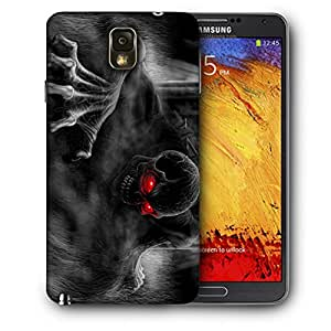 Snoogg Black Ghost Designer Protective Back Case Cover For SAMSUNG Galaxy NOTE 3