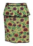 M&S Limited Cream Pink Multi Floral Knee Length Peplum Skirt Size 16