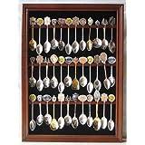 Tea Spoon Souvenir Spoon Display Case Rack Cabinet, REAL Glass Door, (SP01-WA)