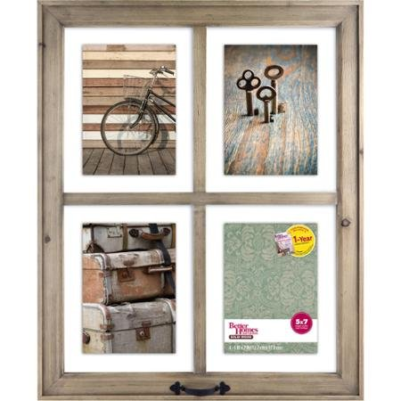 Better Homes and Gardens 4-Opening Rustic Windowpane Collage Frame 0