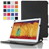 MoKo Samsung Galaxy Note 10.1 2014 Edition Case - Slim-Fit Multi-angle Stand Cover Case for Note 10.1 Inch 2014 Edition Tablet,BLACK (With Smart Cover Auto Wake / Sleep)