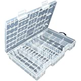 Tinksky Transparent AA AAA C D 9V Hard Plastic Battery Case Holder Storage Box