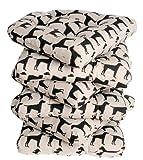 Set of 6 Dog Design Soft Seat Pad Cushion Kitchen Garden Dining Chair