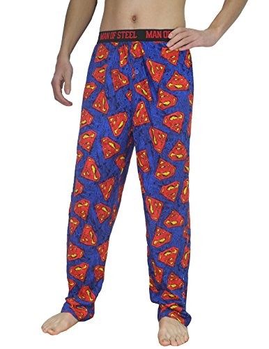 Mens SUPERMAN (MAN OF STEEL) Cotton Sleepwear / Pajama Pants 2XL Multicolor (Superman Pants compare prices)