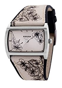 Kahuna Women's Quartz Watch with Beige Dial Analogue Display and Beige PU Strap KLS-0279L