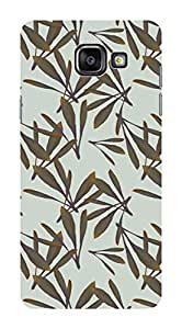 Koveru Designer Printed Protective Snap-On Durable Plastic Back Shell Case Cover for Samsung Galaxy A5 2016 - Oak Leaf Pattern