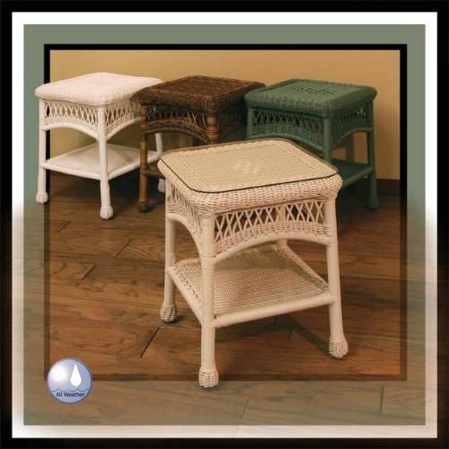 Cheap Chasco Designs 4178-ET-Sq-RsnBR Brown Sanibel Resin-Aluminum Square End Table 4178-ET-Sq-Rsn (4178-ET-Sq-RsnBR)