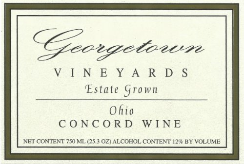 Nv Georgetown Vineyards Estate Grown Ohio Concord Wine 750 Ml