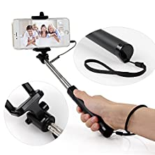buy Idoo Battery Free Self-Portrait Monopod Extendable Selfie Stick With Remote Shutter For Iphone 6, Iphone 6 Plus, Iphone 5 5S 5C, Samsung Galaxy S6 Nokia Lumia Htc And Android Smartphones - Black