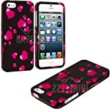 myLife (TM) Hot Pink Heart Sprinkles Series (2 Piece Snap On) Hardshell Plates Case for the iPhone 5/5S (5G) 5th... by myLife Brand Products