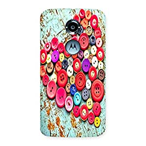 Ajay Enterprises Heart of Buttons Back Case Cover for Moto X 2nd Gen