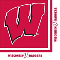 Buy Creative Converting Wisconsin Badgers Luncheon Napkins (20 Count) by Creative Converting