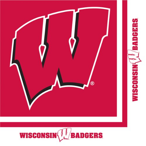 Creative Converting Wisconsin Badgers Luncheon Napkins (20 Count) (Themed College Parties)