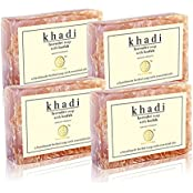 Khadi Natural Lavender Loofah Soap (Sls/Paraben Free) - 100g (Set Of 4)