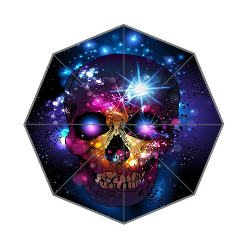 Custom Fashion Folding Umbrella Beautiful Flowers Sugar Skull Umbrella Sun Shade Anti-uv Parasol Umbrella
