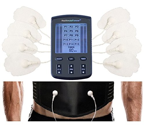 15 Modes Best Portable Mini Handheld Body Massager + Electronic Abdominal Muscle Toning Belt Plus For Weight Loss and Body Building   Pain Relief LIFETIME WARRANTY FDA CLEARED HealthmateForever ZT15AB (Electronic Muscle Massager compare prices)