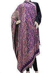 matelco shiny purple woollen viscose shawl