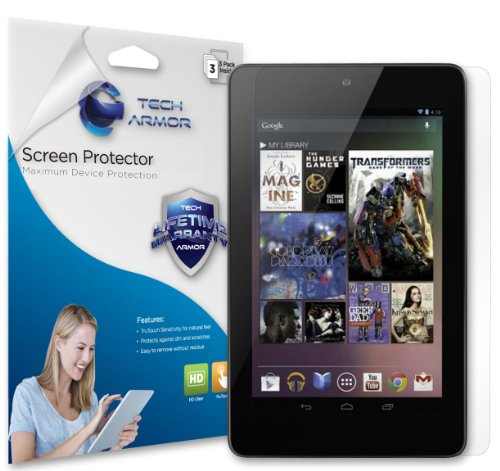 Read About Tech Armor Google Nexus 7 Tablet Premium HD Clear Screen Protector with Lifetime Replacem...