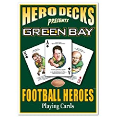 Green Bay Packers Football Playing Cards by Channel Craft
