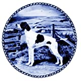 Pointer /Lekven Design Dog Plate 19.5 cm /7.61 inches Made in Denmark NEW with certificate of origin PLATE #7316